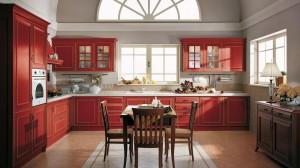 Mobiliario de cocina clásica Velia lacada de Lube en marbella