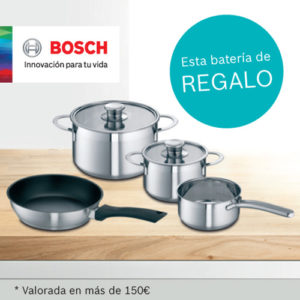 Promoci n bosch bater a de regalo for Bateria de cocina alemana
